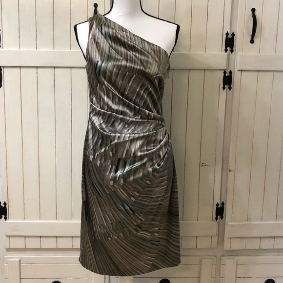 Maggy London Dresses & Skirts - Maggy London Bronze One Shoulder Dress Size 8